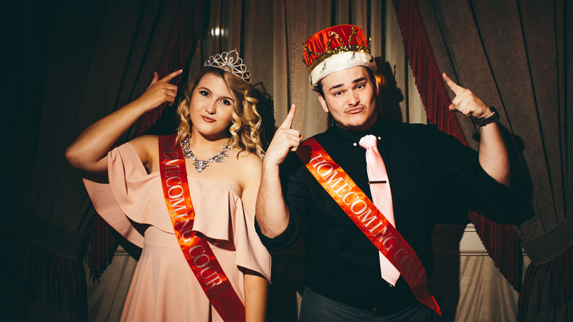 2017 homecoming king and queen talk tacos, Triton traditions, red or gold