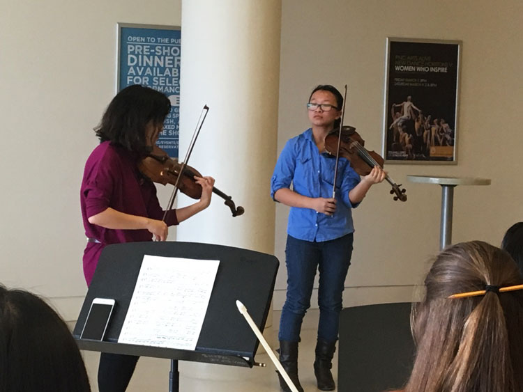 Master class during 2017 Arianna Orchestra Festival