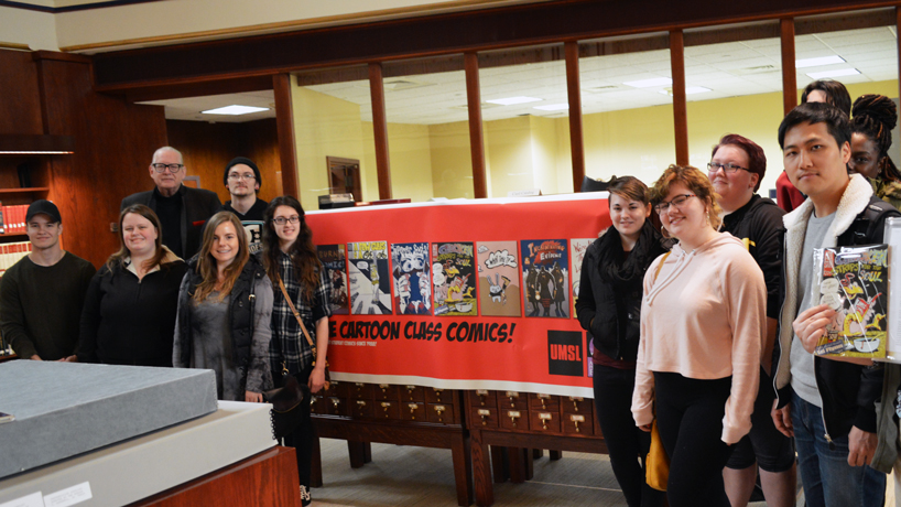 UMSL professor, students donate collection of class-produced comics to Missouri History Museum