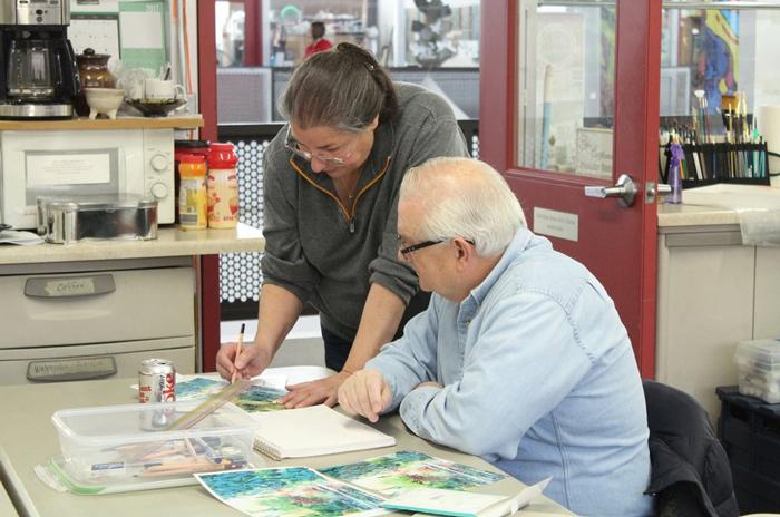 Ann Croghan teaching