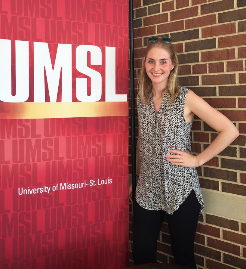 Vivien Kneisel showing her UMSL pride