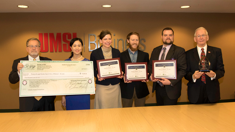 UMSL students win Industry Issues Competition put on by the Society of Financial Service Professionals