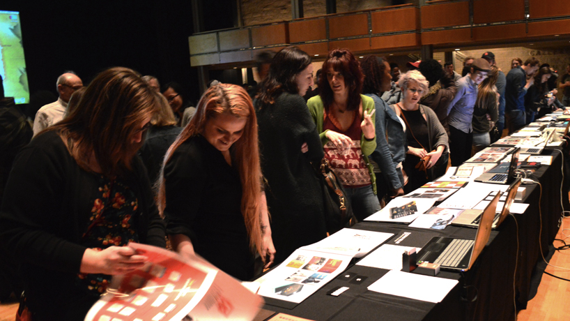 Graphic design majors wow crowd with ambitious senior theses