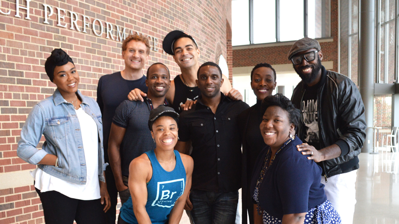 'Lion King' cast members make time during tour to connect with St. Louis youth, UMSL students