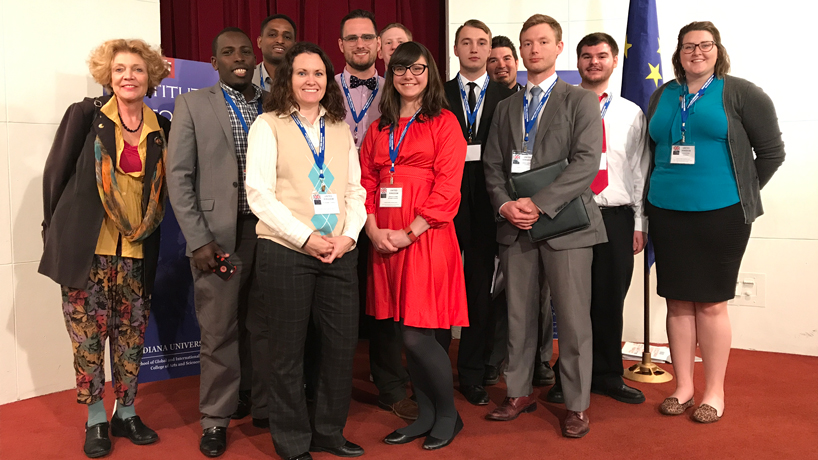 Political science students gain new perspectives on European politics through participation in Midwest Model EU