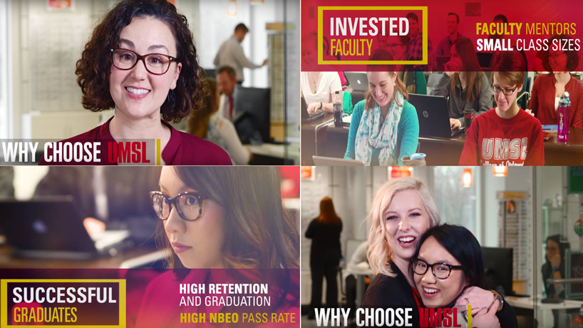 UMSL College of Optometry premieres new video focused on student voices, family feel