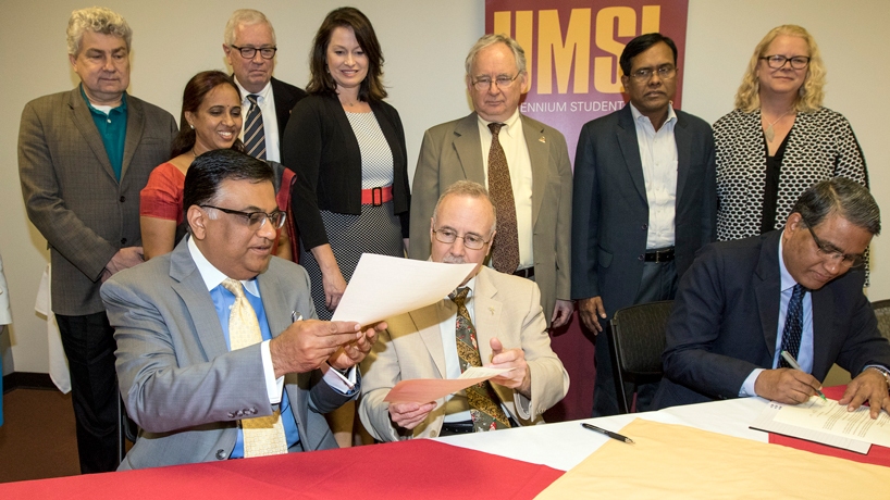 UMSL working to build partnership with Osmania University in India