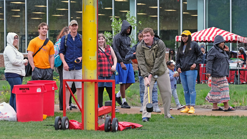 Weather dampens Mirthweek Carnival attendees but not student enthusiasm
