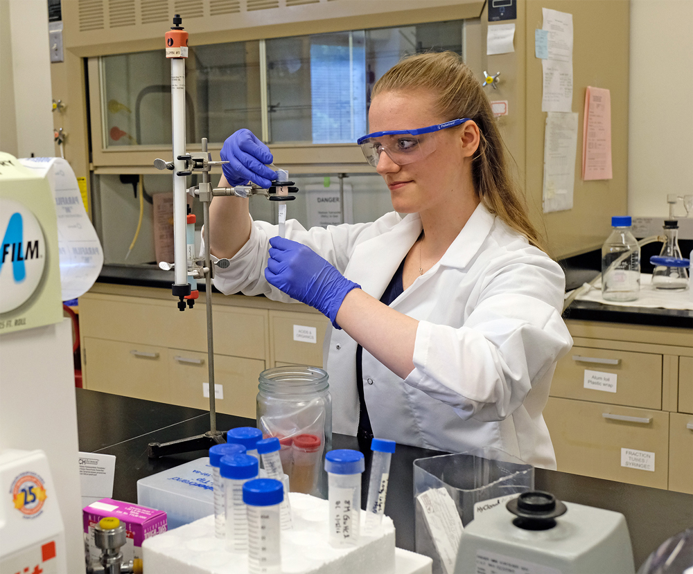 Victoria Rogers has helped the Nichols lab characterize and develop the antibody that will target the protofibrils responsible for the inflammation and cell death that causes Alzheimer's Disease. The science research is something her father raised her to believe women don't do.