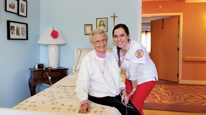 Elderly needing care, students gaining experience: College of Nursing and Delmar Gardens team up