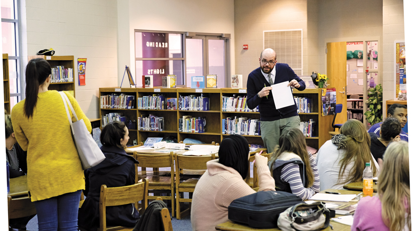 Nick Husbye's literacy clinic gets students teaching sooner