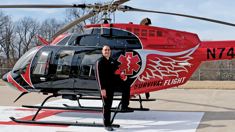 Chris Tipton, critical care flight paramedic and UMSL chemistry grad
