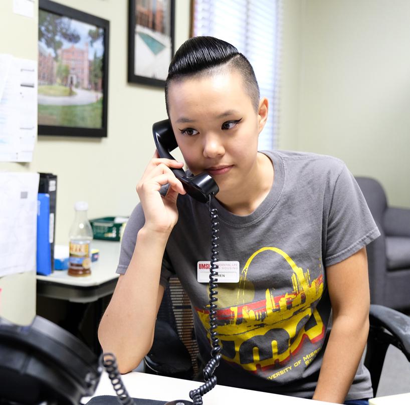 Lauren Zhao fielding questions for ResLife