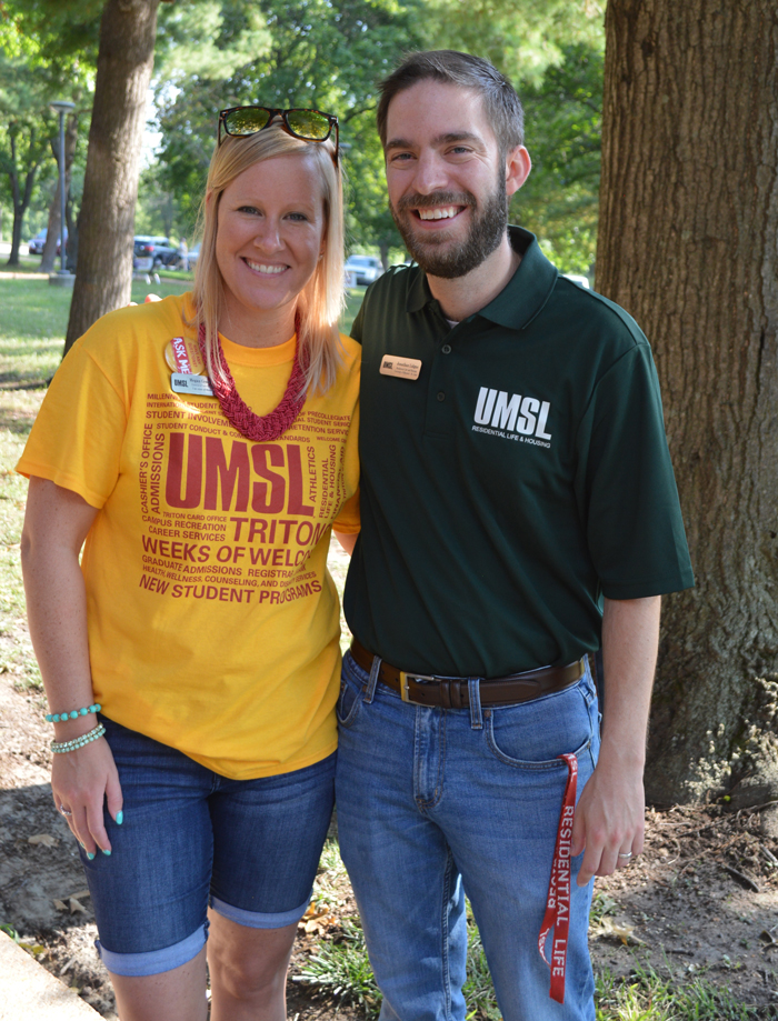UMSL staff members Megan Green and Jonathan Lidgus