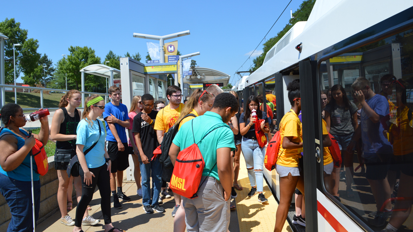 New students set out on transit-powered quest around St. Louis