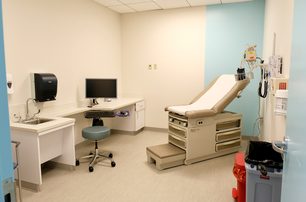 Each exam room has all new medical equipment and furniture and has been designed standardized and designed to top medical standards.