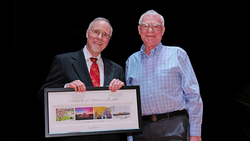 Physics Professor Bob Henson's 50 years of service to UMSL recognized on campus, in Post-Dispatch