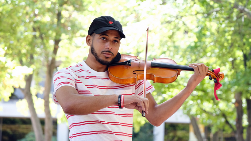 EP release, graduation up next for UMSL violinist and media studies major