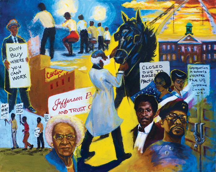 #1 in Civil Rights mural