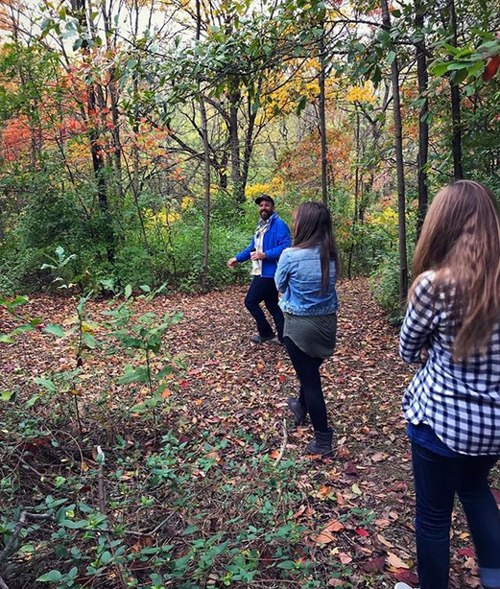 Exploring with UMSL students