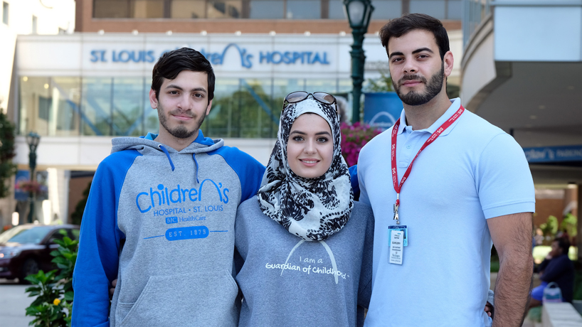 Seeing a brother through treatment, hospital volunteering and vascular research make up the Saffafs' pre-med experience