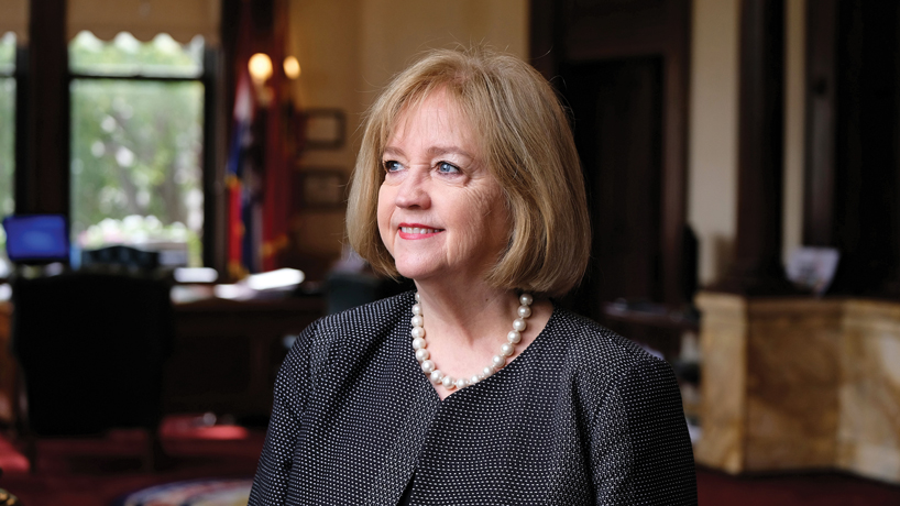 After breaking glass ceiling in mayor's office, UMSL alumna Lyda Krewson aims to expand city's revitalization successes