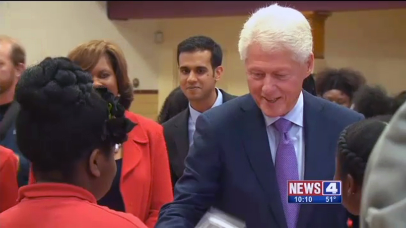 Bill Clinton visits Girls Inc. STEM program grown with UMSL help