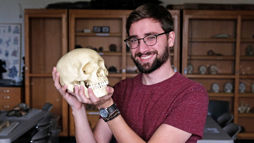 Anthropology graduate Shawn Edghill studies the past as he reshapes his own future