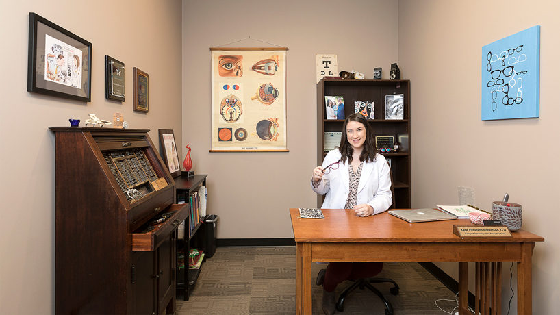'Eye antiques' give optometry alumna's modern practice a vintage vibe