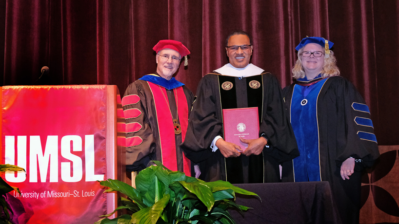 UMSL awards honorary degree to UMBC President Freeman Hrabowski