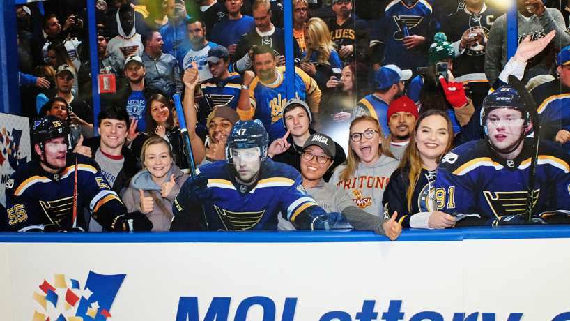 Students cheer Blues to victory at UMSL Night on the Ice