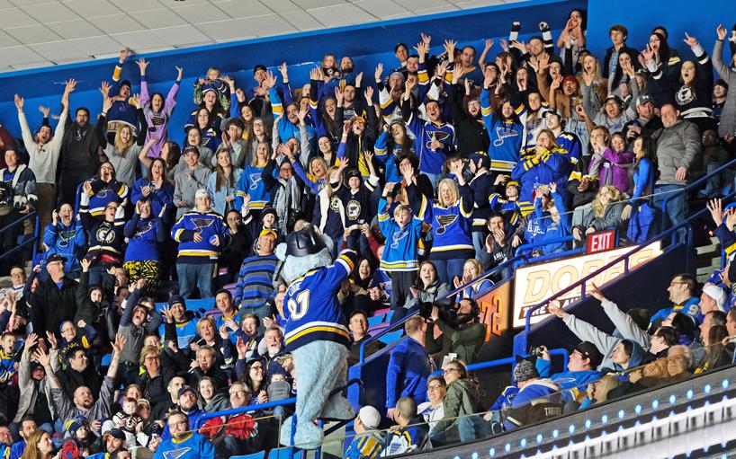 UMSL cheers on Blues