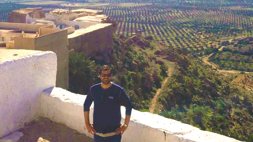 Political science alumnus Nate Wilson working for the cause of peace in Libya