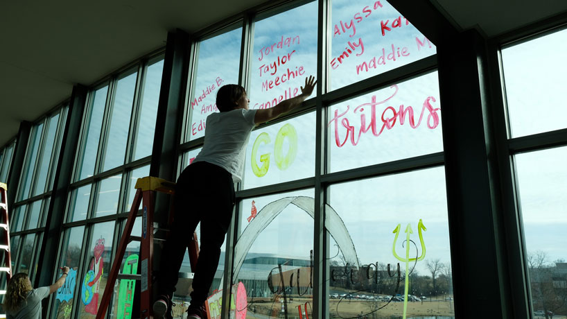 MSC bridge window painting provides gateway to the best homecoming yet