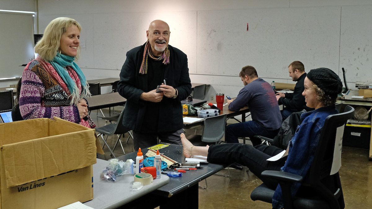 Serge Serov travels from Moscow for exhibition opening, workshop with UMSL design students