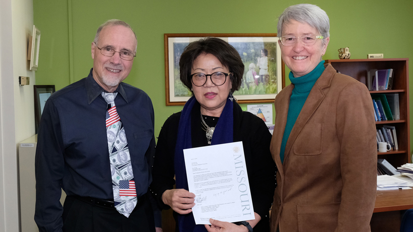 Kim Song receives UM System President's Award for Intercampus Collaboration