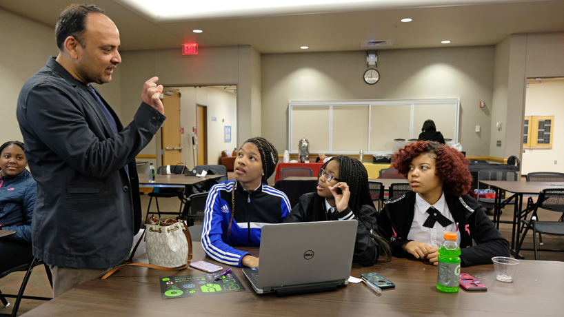 UMSL-hosted seminar challenges Jennings High School students to consider cybersecurity careers