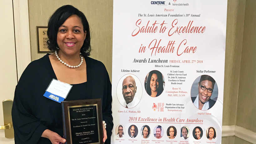 Nursing alumna Shunta Johnson honored for service to health care community