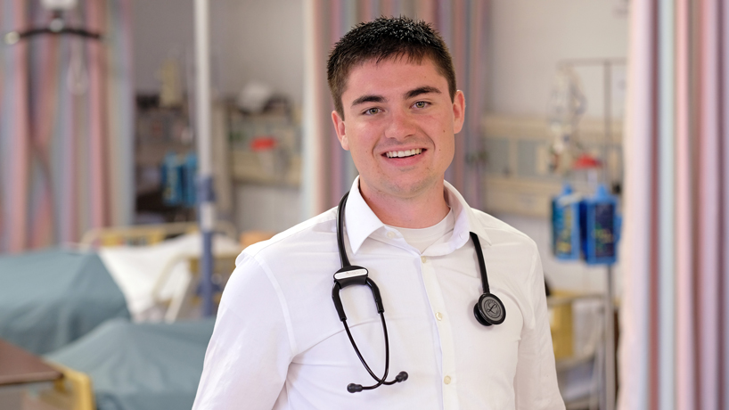 Nursing student Trenton Conway enters DNP program with a desire to help others
