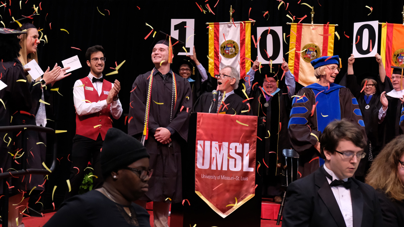 Marco Pipoly, UMSL's 100,000th graduate, on path to career in neuroscience