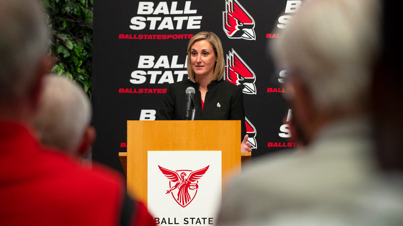 Education alumna Beth Goetz joins elite group as new Ball State athletic director