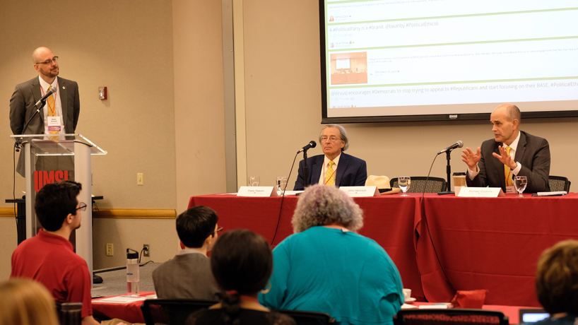 Debate on involvement, ethics of political parties unfolds on UMSL campus