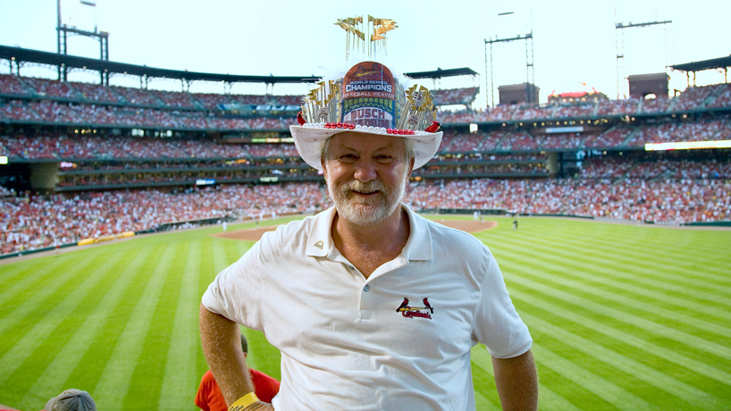 A career to hang his hat on: Cardinals superfan Tom 'The Hat Man' Lange retires after 22 years at UMSL