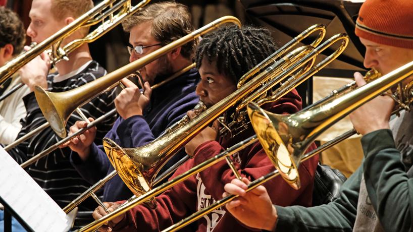 Jazz Ensemble rehearsal