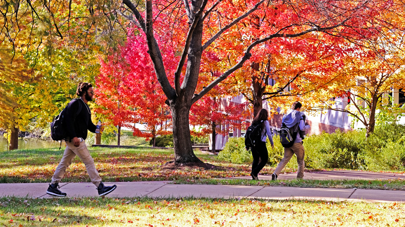 Fall colors on North Campus