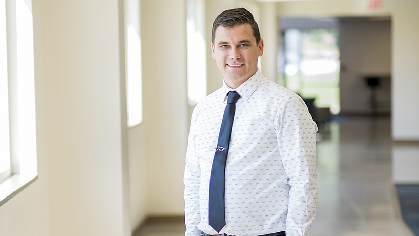 Optometry student Adam Wira overcame testicular cancer to triumph on his national boards.