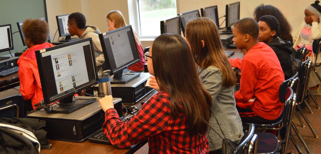 Students cast ballots in Kids Voting Missouri program