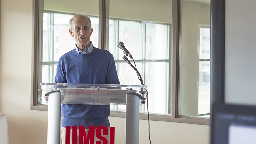 Bob Gummers, who is retired from a career as executive director at United Hebrew Congregation, volunteers as a docent at the Holocaust Museum and Learning Center.