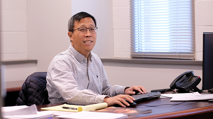 Associate Professor Haiyan Cai was appointed as the new associate dean of joint engineering. (Photo by August Jennewein)