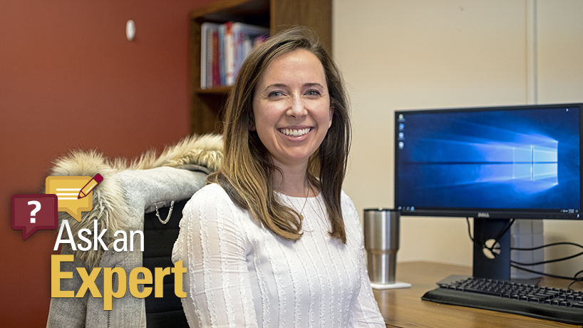 Pediatric nurse practitioner and assistant teaching professor Elise Schaller teaches pediatric nursing and advance practice nursing in the College of Nursing. (Photo by Jessica Rogen).